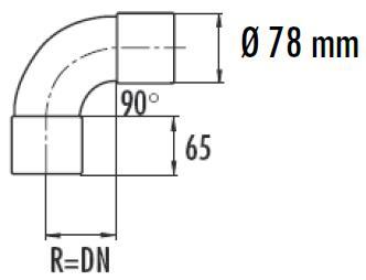 Соединитель воздуховода угловой 90 град. 75 мм VALLOX